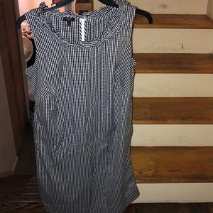 Talbots black  and white gingham sleeveless dress